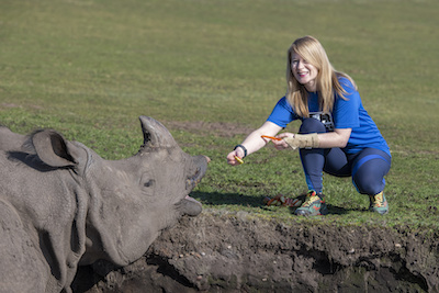 Cathy Dittrich from West Midland Safari Park will be running the Vitality Big Half, raising money for Save the Rhino International.