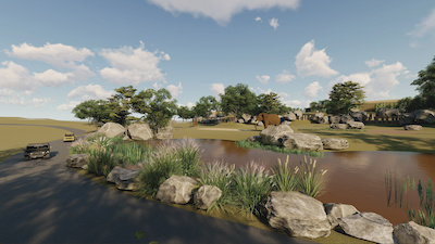 Concepts show upgraded habitats for the Park's African elephants.